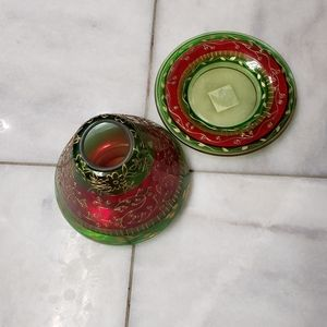 Yankee Candle Lg Candle Jar Shade Christmas Plate